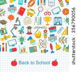 illustration back to school...   Shutterstock . vector #356790056