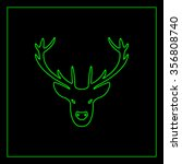 illustration of a deer head... | Shutterstock .eps vector #356808740