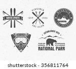 set of ski club  patrol labels. ... | Shutterstock .eps vector #356811764