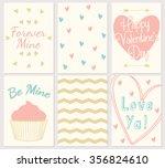 valentine's card template ...   Shutterstock .eps vector #356824610