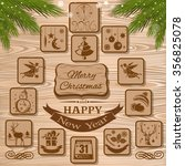 symbols of christmas and new... | Shutterstock .eps vector #356825078