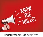 know the rules  | Shutterstock .eps vector #356844794