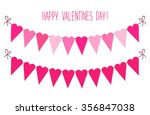 cute vintage valentines day... | Shutterstock .eps vector #356847038