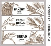 hand drawn bread horizontal... | Shutterstock .eps vector #356850350