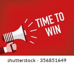 time to win | Shutterstock .eps vector #356851649