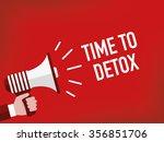 time to detox | Shutterstock .eps vector #356851706