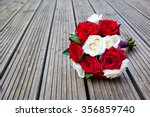 Stock photo red and white roses flowers 356859740