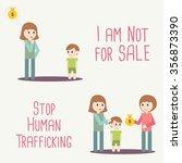 human trafficking awareness day ... | Shutterstock .eps vector #356873390