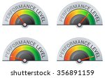 performance meter   4 stage ... | Shutterstock .eps vector #356891159