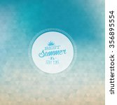 abstract summer vacation label... | Shutterstock .eps vector #356895554