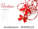 christmas red bow ribbon... | Shutterstock . vector #356900123