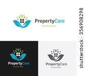property care home care logo... | Shutterstock .eps vector #356908298