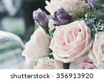 pink rose in a floral bouquet   Shutterstock . vector #356913920
