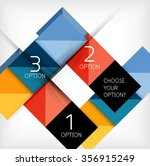 paper style design templates ... | Shutterstock .eps vector #356915249
