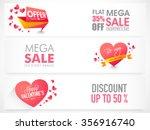 website header or banner set of ... | Shutterstock .eps vector #356916740