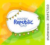 elegant greeting card design... | Shutterstock .eps vector #356917310