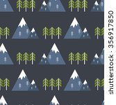 seamless pattern. mountains.... | Shutterstock .eps vector #356917850