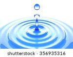 water drop 3d | Shutterstock . vector #356935316