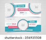 mega sale with discount offer ... | Shutterstock .eps vector #356935508