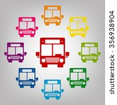 bus sign. icons colorful set   Shutterstock . vector #356938904