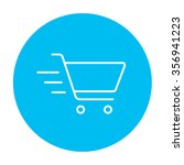 shopping cart line icon for web ... | Shutterstock .eps vector #356941223