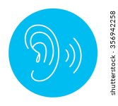 human ear line icon for web ... | Shutterstock .eps vector #356942258