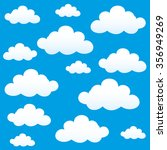 vector background. clouds on a... | Shutterstock .eps vector #356949269