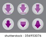 download upload icons set... | Shutterstock .eps vector #356953076