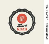 abstract black friday label on... | Shutterstock .eps vector #356967758