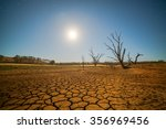 global warming concept. dead... | Shutterstock . vector #356969456