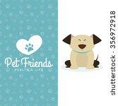 abstract pet shop background... | Shutterstock .eps vector #356972918