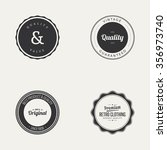 abstract premium quality labels ... | Shutterstock .eps vector #356973740