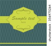simple vintage cover   Shutterstock .eps vector #356975264