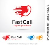 fast call logo template design... | Shutterstock .eps vector #356978378