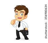 businessman carrying a... | Shutterstock .eps vector #356980634