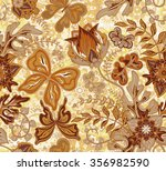 seamless floral pattern with... | Shutterstock . vector #356982590