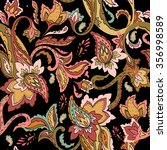 seamless paisley pattern.... | Shutterstock .eps vector #356998589
