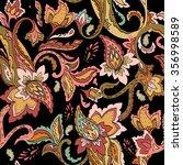 seamless paisley pattern.... | Shutterstock .eps vector #356998589