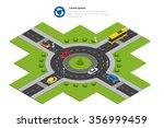 Isometric Roundabout. Circular...