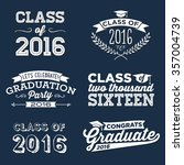 2016 graduation vector set  ... | Shutterstock .eps vector #357004739