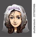 portrait of a happy bride in a...   Shutterstock .eps vector #357005486