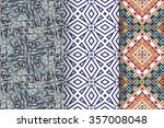 set of 3 abstract seamless... | Shutterstock .eps vector #357008048