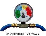 Colorful Pressure Gauge Showing ...
