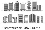line background of the city ... | Shutterstock .eps vector #357018746