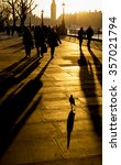 londoners with long shadows... | Shutterstock . vector #357021794