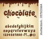 latin alphabet made of dark... | Shutterstock .eps vector #357022664