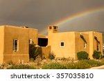 Rainbow Over Adobe House