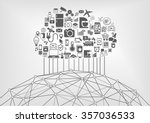 internet of things  iot  and... | Shutterstock .eps vector #357036533