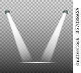 spot light on transparent... | Shutterstock .eps vector #357038639
