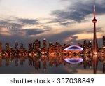 Toronto Skyline At Sunset ...